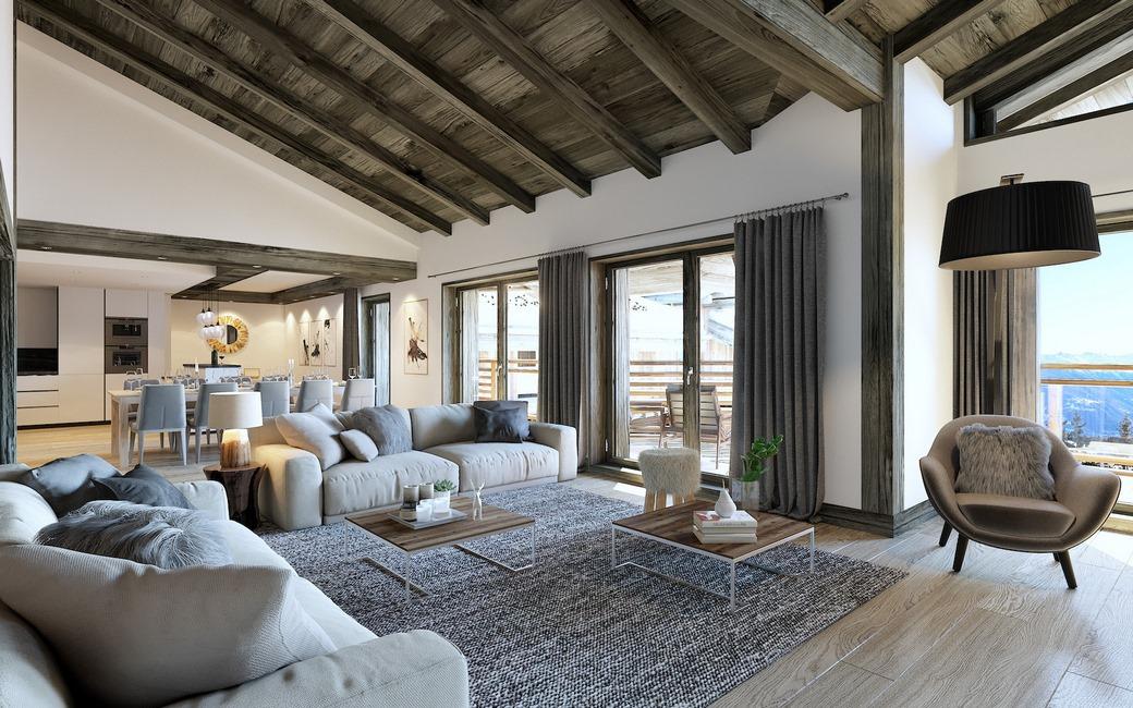 Luxury ski apartments les gets les gets ski apartments for Appartement design ski